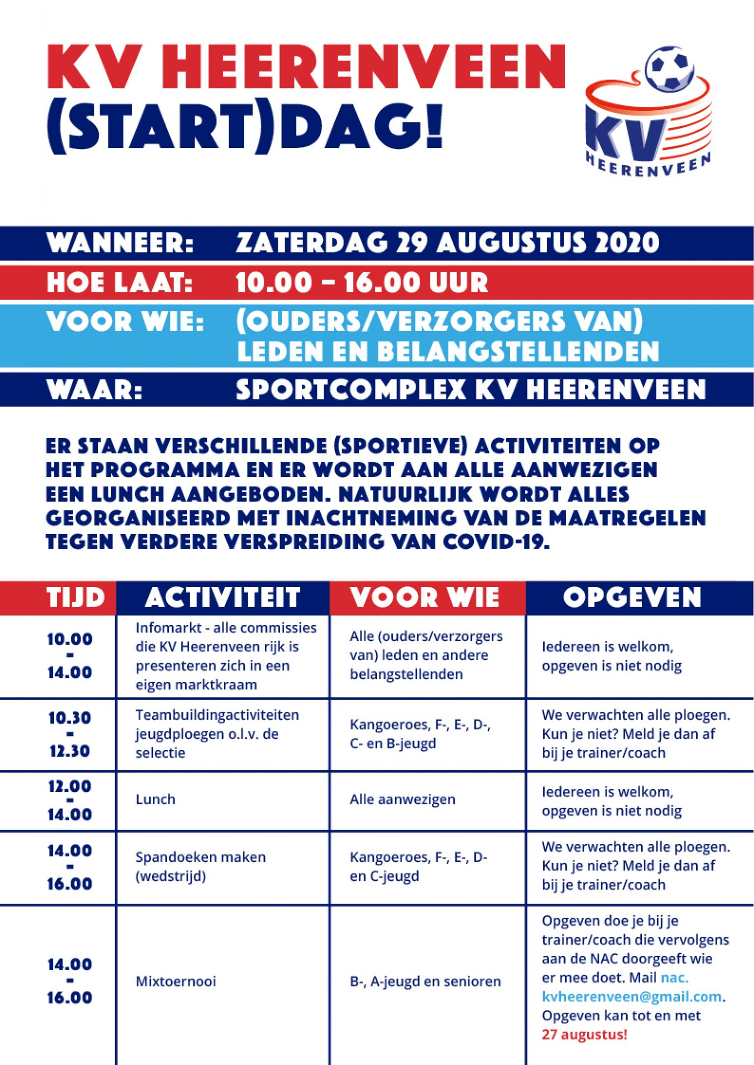 KV Heerenveen (start)dag - KV Heerenveen